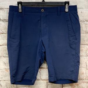 Under Armour Mens Golf Shorts Size 36x10.5 Blue